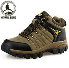 NaturalHome winter men mountaineering outdoor athletic Water-resistant hunting boots high quality breathable shoes botas