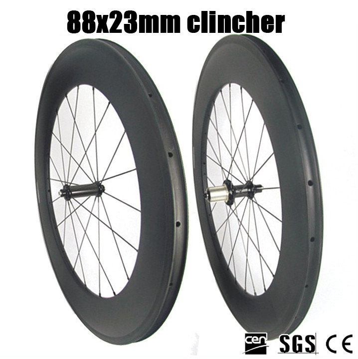88mm-clincher-carbon-fiber-wheels-road-bicycle