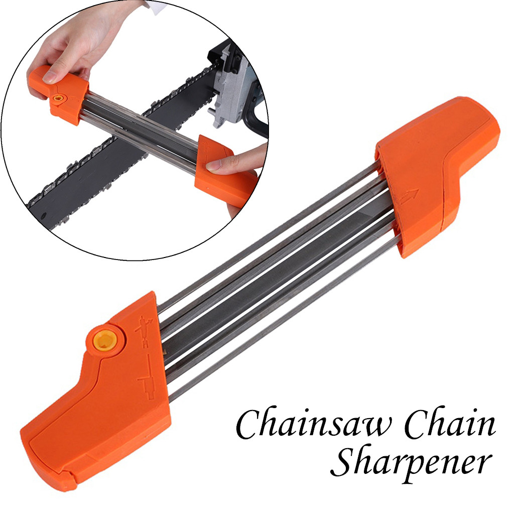 """Chainsaw Chain Sharpening  File /& Holder 3//16/"""" 4.8mm File for .325/"""" Chain"""