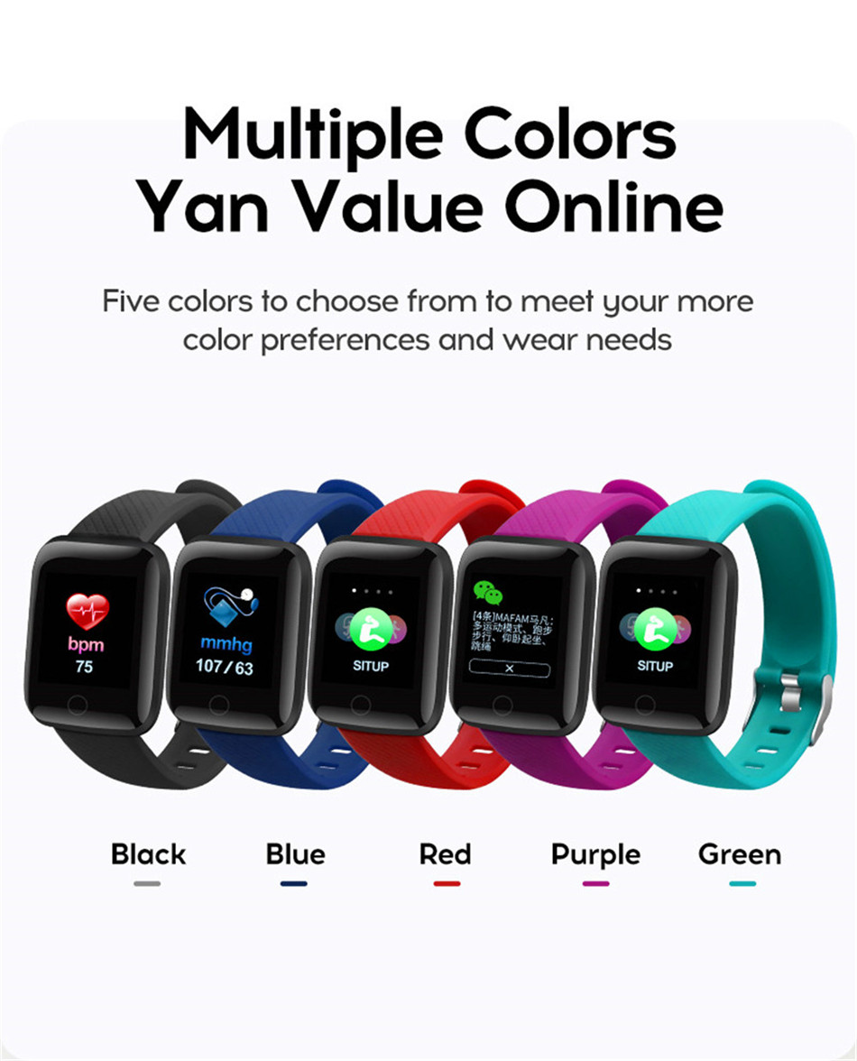 19-130435- Sport Smartwatch Women Heart Rate Monitor Smart Watch Men Blood Pressure Waterproof Fitness Tracker Watch For Android ios 2019