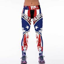 New Women Sports Pants Leggings American Football Patriots Digital Printing Slim Running Workout Gym Legging Leggins Sport choth(China)