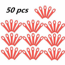 50pcs Swing Plastic Blade Pendants For ART26LI Cordless Grass Trimmer Garden Timmer Accutrim Easy Trim Accu Strimmer(China)