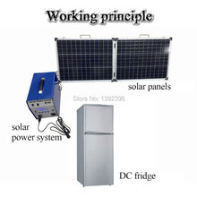 Compressor refrigerator freezer dc 12v or 24v fridge solar panel system solar fridge 118L