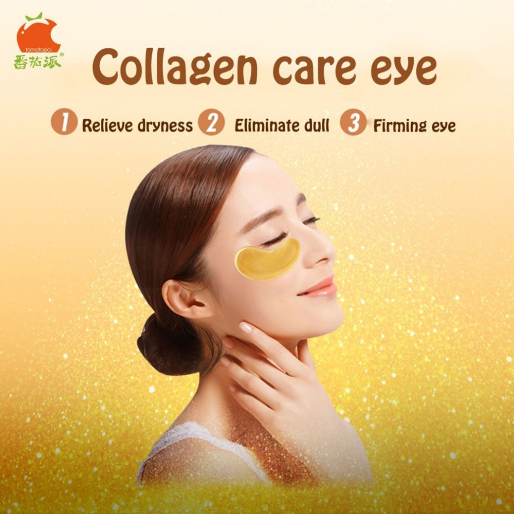 TOMATO PIE 140G Smooth Collagen Firming Moisturizing Eye Mask Gold Osmanthus Remove Dark Circles Skin Care Eye Masks Treatment 11