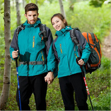 Winter jackets men and women couple waterproof  clothing Warm padded Jackets triple two - piece three kinds of wear
