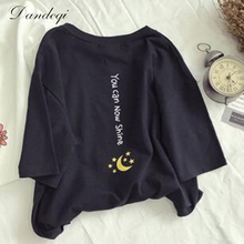 Buy 2017 Summer Cotton T Shirt Women Half Sleeve O-Neck Tshirt Loose Harajuku Funny Printed T-shirt Female Casual Tee Tops Plus Size for $6.31 in AliExpress store
