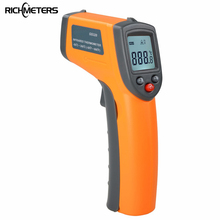 GS320 Non-Contact IR Infrared Thermometer Temperature Gun -50~360C (-58~680F) Emissivity 0.95 12:1