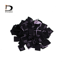 Stock woven clothing labels made in USA or china origin care tags 15x20mm center folded labels 150pcs lot(China)