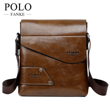 FANKE POLO Brand Men's Business Bags PU Leather Man Handbags Men Messenger Bag Quality Men's Travel Bag over His Shoulder VP-17