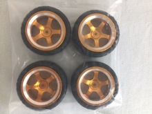 4pcs/set Alum RC 1/10 scale RC On Road Car RC Drift car 12mm Hex Alum Hub  Wheel Rim and Tires Tyres  Set  HSP 94122 94123