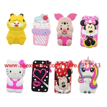 Minnie Pig Lips Hello Kitty Cupcakes Unicorn Owl Dog Sulley 3D Case Cover For Samsung Galaxy J5 J7 J3 2015 2016 J510 J710 J310