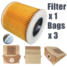 Mayitr Vacuum Cleaner Filter With Paper Dust Bag Filter Bags Kit For WD2250 A2004 A2054 MV2 Replacement Parts(China)