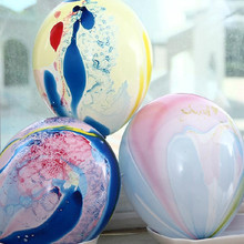 100Pcs/lot 12''3.2g Unique Brightly Clouds Onyx Marble painting Latex Balloons Wedding Birthday Christmas Party Decor Supllies