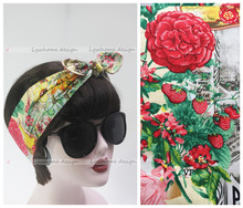 1950s women vintage rockabilly pinup polka dot paris floral headband hairband hair scarf bands accessories bandana bandeau