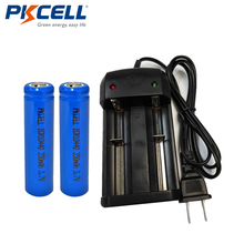2x PKCELL ICR 10440 Lithium 3.7V 350mAh AAA Li-ion Rechargeable Battery+1x 2Solt Smart Charger 18650 18500 14500 - Online Store 918700 store