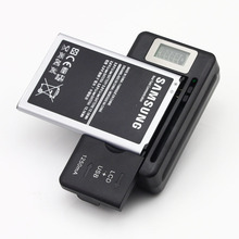 US PLUG New Mobile Universal Battery Charger For Cell Phones USB-Port Black LCD Indicator Screen + Tracking