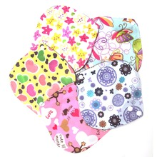 New 2017 arrival 1PC 6*6 Inch Reusable Washable Bamboo Cloth Menstrual Sanitary Maternity Minky Pads Hot Sale