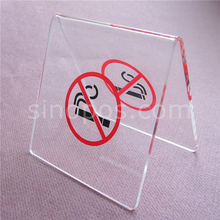 Tabletop Acrylic Non-smoking Stand, desk rack clear crystal plexi plastic advertising no smoking signs card ticket poster glass(China)