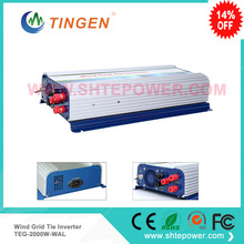 2000w 2kw 45-90v input grid tie inverter 3 phase ac for wind turbine generator lcd display dump load resistor