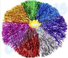 50pcs 30g Modish Cheer Dance Supplies Competition Cheerleading Pom Poms Flower Ball Lighting Up Party Cheering Fancy Pom Poms