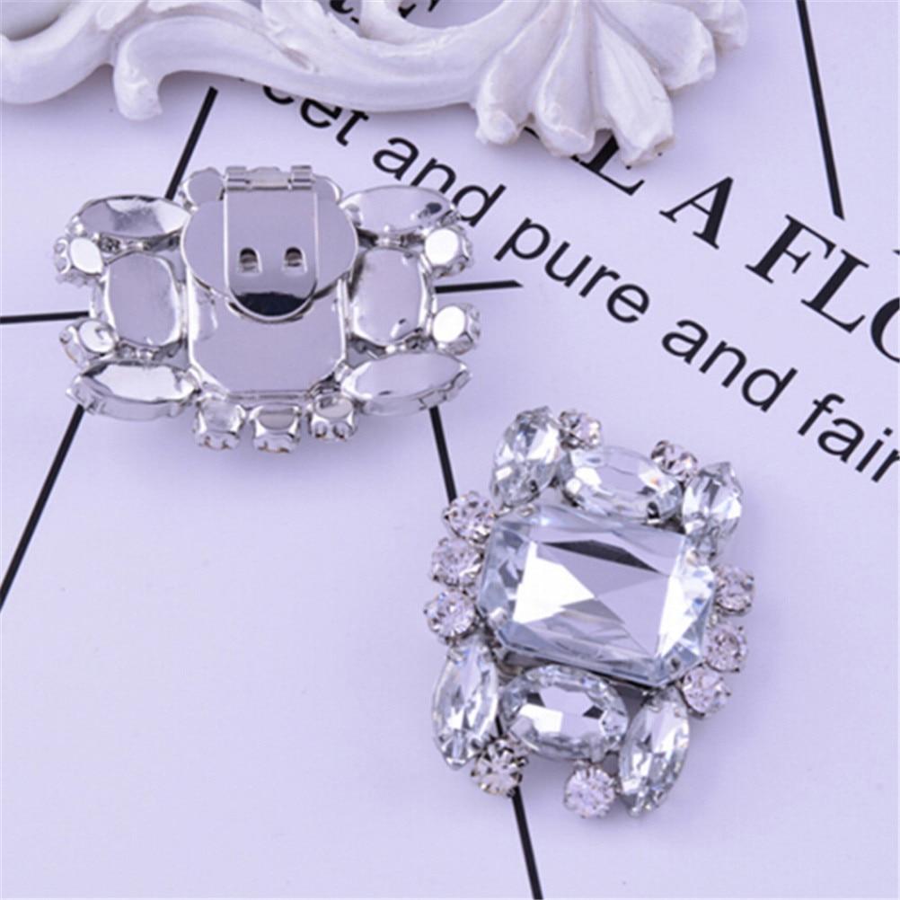 1PC Women Shoes Decoration Clips Elegant Crystal Shoes Buckle Bridal DecorUULK