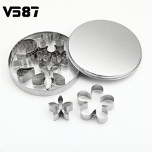 Rose Flower Leaves Cookie Cutters Stainless Steel Cake Mould 12Pcs/Set Decorating Tools Kitchen Accessories Baking Molds