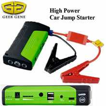 High Capacity 12V Portable Mini Car Jump Starter Top Starter Device Car Jumper Booster 2USB Power Bank for Petrol Car Free Ship