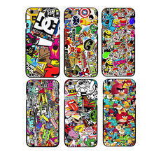 Marvel Sticker Bomb Phone Hard Cover Case for iphone 4 4s 5 5s se 6 6splus 7 7plus  hard cases best gifts for lover