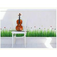 The wall sticker for living room bedroom kids room toilet home decor green grass and flowers removabler wall sticker muursticker