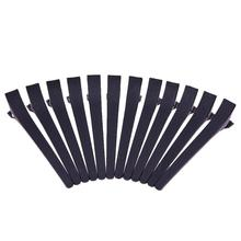 12pcs Metal Hairpin Single Prong DIY Hairstyle Alligator Hair Clip Black Hair Clip for Women girls Headwear hair accessories(China)