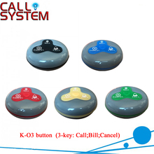 K-O3 table buzzer for wireless calling system restaurant (5 color) 100% waterproof(China)