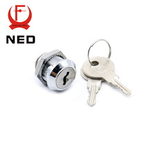 30PCS NED103-16 Cam Cylinder Locks Door Cabinet Mailbox Drawer Cupboard Home Locks 16mm Length With Iron Keys Furniture Hardware