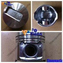For Cummins A2300 Piston 4901212 4900737 with pin and clips for DOOSAN DAEWOO D20S D25S D30S FORKLIFT A2300 diesel engine parts(China)