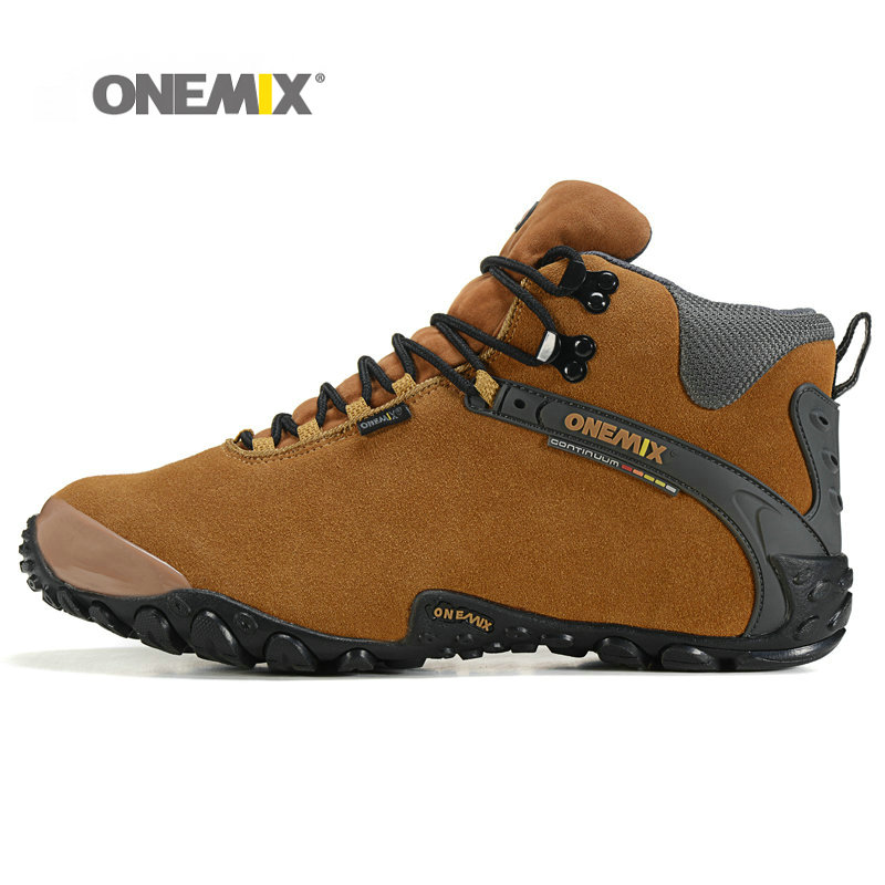 2016 ONEMIX Winter Men Hiking Shoes Fur Lining Outdoor Shoes for Men Durable and Waterproof Climbing Shoes 1058<br>