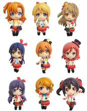 Japanese Anime Figure Love Live! Brinquedos School Idol Project Juguetes PVC Action Figures Model Doll Kids Toys 9Pcs/Set