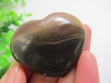 Natural Ocean Jasper Quartz Crystal Heart Carved Polished Reiki Healing Natural Stones and Minerals Christmas Gift 30g(China)