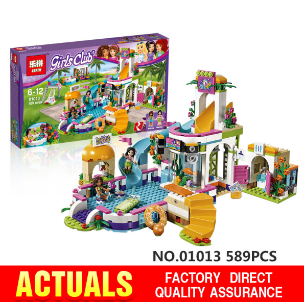 Lepin 01013 Girls friends The Heartlake Summer Pool Set model Educational Kits Building Blocks Bricks toys for children  41313<br><br>Aliexpress