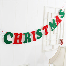 Manufacturers selling Christmas decorations to pull the flag flag eight Christmas Christmas tree decorations spot Hostel Trim(China)