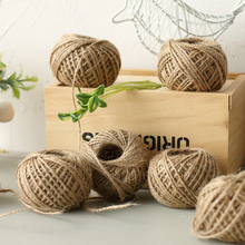 Jute Twine 30 Meters Natural Sisal 2mm Rustic Tags Wrap Wedding Decoration Crafts Twisted Rope String Cord Events Party Supplies
