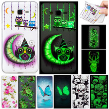 Luxury Cartoon Luminous Night Light Owl Skull Fundas Phone Cases For Samsung Galaxy Grand Prime G530 G530H G531H G5308W Cover