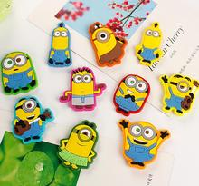 10pcs/lot cute minion fridge magnets kids gift minions funny magnetic stickers for refrigerator decoration free shipping