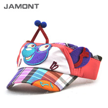 [JAMONT] 2017 New Kids Character Visor Cap Summer Empty Top Hats Casual Sun Visors Z-5356()