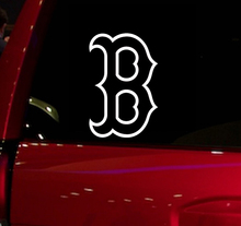 Red Sox B baseball game Auto Window Sticker Decal for Car Truck Suv Decal 5.5'' Car Window Vinyl Die Cut Sticker White