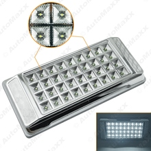 1Pc High Quality White 36 LED Car Interior LED Lights Dome Ceiling Roof Lamp for Vehicle Auto Caravan #J-3073(China)