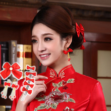 Buy The Full $79 , Free To Receive The Bride Headdress Flower Han Edition 8 Pieces Silk Bowknot Bridal Boutique Jewelry(China)