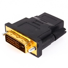 Gold Plated DVI 24+1 HDMI Convert Male to Female Adapter Converter Cable Cabo for HDTV LCD(China)