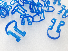 40PCS blue color Cotton Roll Holder Disposable Clip for Teeth Dental Clinic Dental Isolator Tool