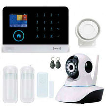 WIFI GSM Alarm System For Home House  Anti-theft Motion Detector Alarm Monitor Wireless Alarm system+2 remote controller