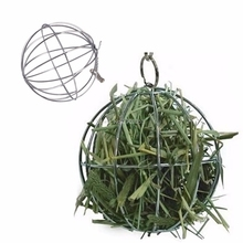 Stainless Steel Ball Shape Grass Grame Pet Feed Dispenser Bunny Guinea Rabbit Small Animal playing Hanging Ball Toy H06