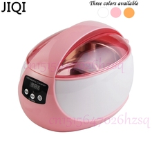 JIQI 50W 750mL Household mini ultrasonic cleaner Ultrasonic wave cleaner Cleaning machine cute suitable for jewelry cleaning(China)